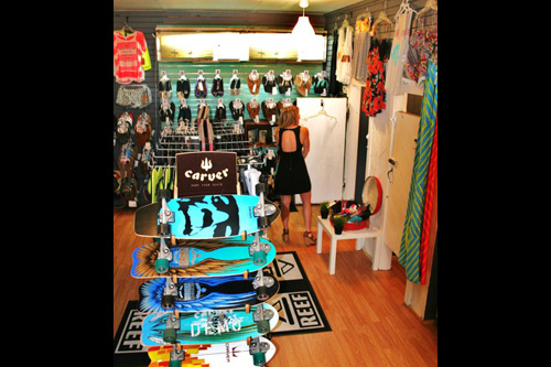 They carry plenty of skate gear too and have a top-notch women's section. Photo: Courtesy Village Surf Shoppe