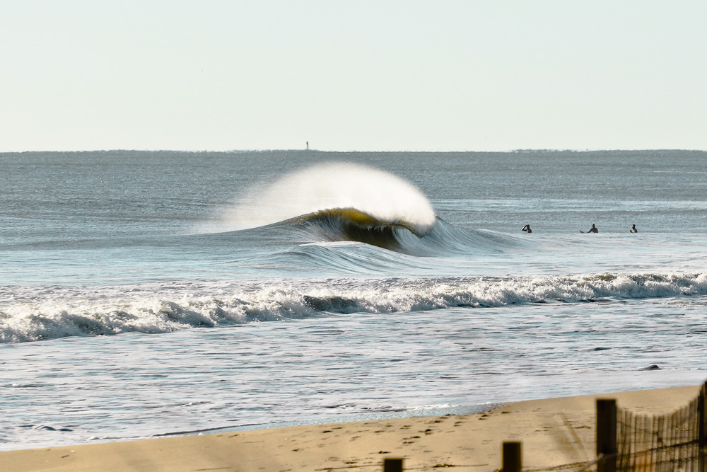 """Maybe it's because we're in the dead of winter, or maybe it's because the waves the last few days were so consistent. Either way, most of the emails we received this week contained succinct phrases like this one from photographer Nick Tribuno: """"It's been going off in Delmarva the past few days!"""" Photo: Nick Tribuno"""