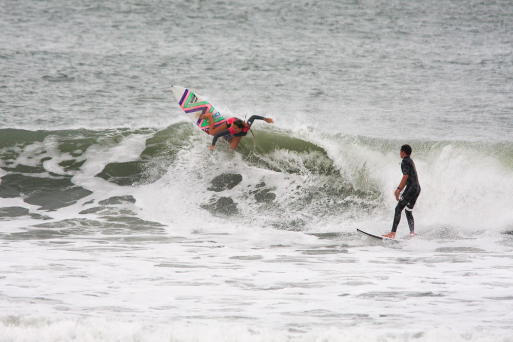 Sorry, bro. Storm Portman asserts her local status and gets one back for the ladies. Photo: Dugan