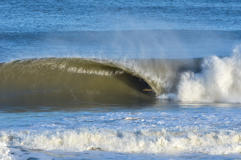 Todd Elder, barreled deep in the Outer Banks. Photo: Ben Gallop