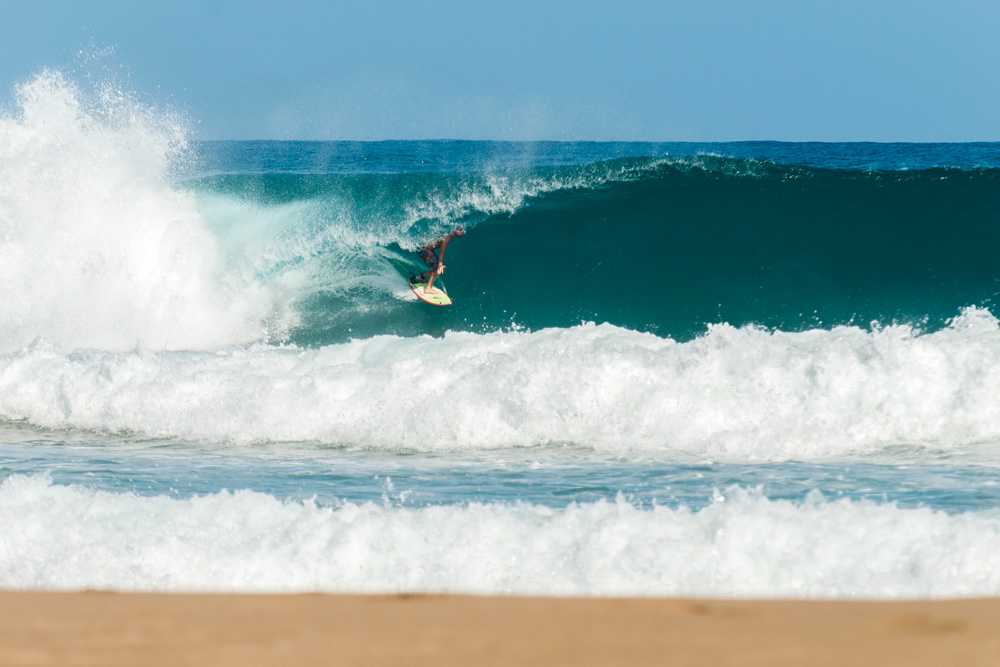 """""""I'm spending the month of January down in Puerto Rico,"""" says St. Augustine, FL, photographer Cody Coleman. """"The swell that hit on Sunday was a good one, and I shot with Bryan Laide and Leif Engstrom but missed the early morning session. However, Monday was mental — Bryan was absolutely charging, Seth packed a few as well, and then Hector Santamaria showed up and threw down a rodeo on his third wave."""" Photo: Cody Coleman"""