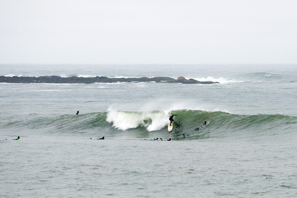 Artie Seaman may have snapped his trusty Phil Taylor longboard at the end of this go-out in New Hampshire, but it sure looks like it was worth it. Photo: Cory Ransom