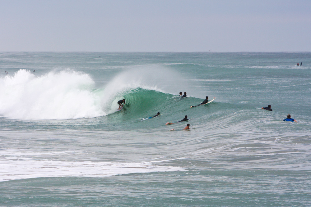It took us a few hours to finally ID him (thanks Andrew Fletcher!), but everybody in the water at Sebastian Inlet on Sunday had their eyes glued on Daniel Calloway. Photo: Dugan