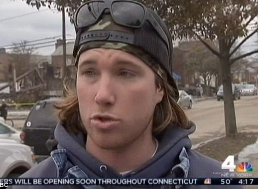 New York lifeguard Dylan Smith, who rescued several people from his Belle Harbor neighborhood the night Hurricane Sandy hit, died on December 23rd, 2012 while surfing at Maria's in Rincon, Puerto Rico. Photo: WNBC