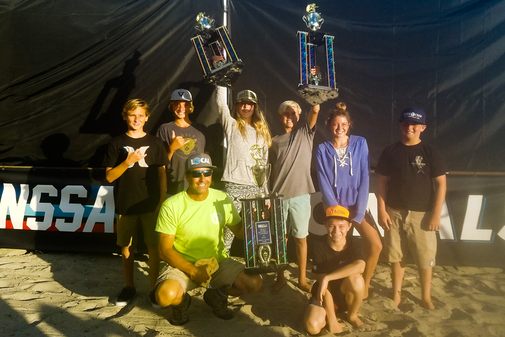 Tommy Coleman's Interscholastic victory, coupled with Eden Lange's win in Middle School Girls, elevated Cocoa Beach Jr./Sr. High School to a 2nd-place overall team finish, a high watermark for an East Coast team competing against nine other Southern California squads. Photo: NSSA