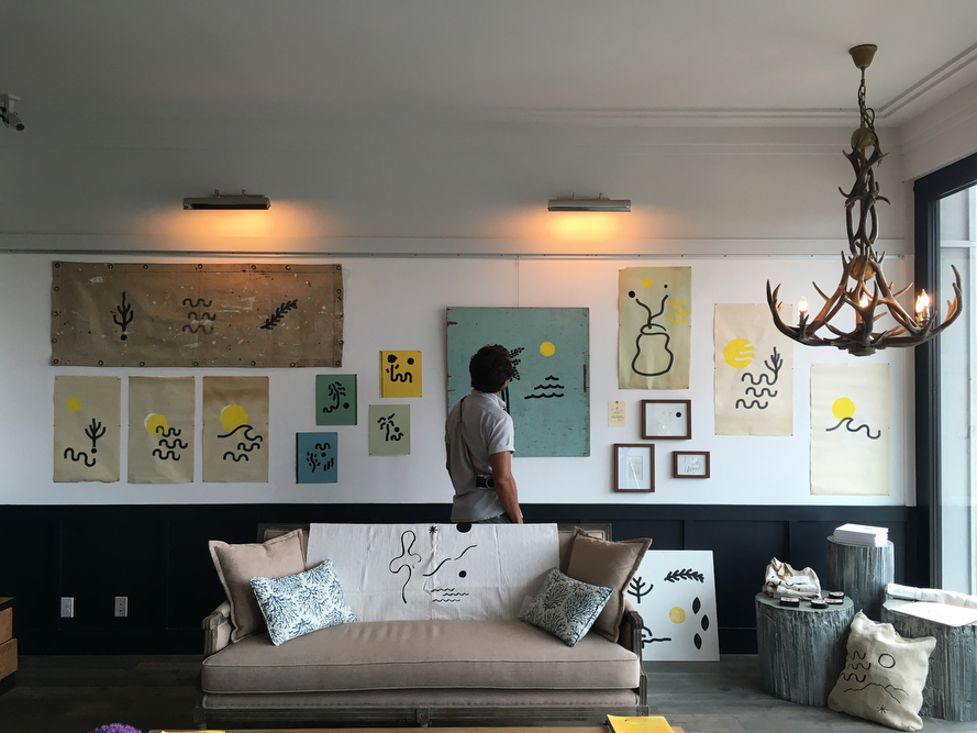 Spellman currently has an exhibit of his drawings up at The Montauk Beach House in New York.