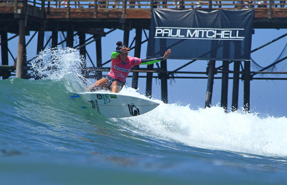 Caption: 2013 Paul Mitchell Supergirl Pro Champion Malia Manuel (HAW) joins the historic 114 competitors as a top seeded Qualifying Series (QS) and Championship Tour (CT) standout.  Image: WSL/ Kurt Steinmetz