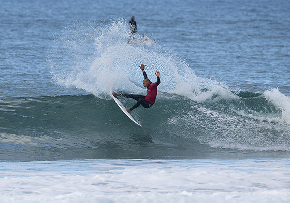 """Kelly Slater of the USA (pictured) winning his round four heat at the JBay Open on Saturday July 9, 2016. PHOTO: © WSL/ Kirstin SOCIAL @wsl @kirstinscholtz This is a hand-out image from  the Association of Surfing Professionals LLC (""""World Surf League"""") for editorial use only. No commercial rights are granted to the Images in any way. The Images are provided on an """"as is"""" basis and no warranty is provided for use of a particular purpose. Rights to individuals within the Images are not provided. The copyright is owned by World Surf League. Sale or license of the Images is prohibited. ALL RIGHTS RESERVED."""