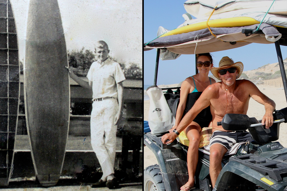 "(Left) Pioneer nominee Ron Heavyside from Briny Breezes in South Florida is the legendary founder of Nomad Surfboards and Surf Shop, which opened in 1968 and still operates to this day with Ron even finding the time to shape a few. (Right) Born and bred New Yorker Tyler Callaway is nominated in the Industry category for his role as President of FCS Fins, though in his heyday he was a competitor in the ESA and thoroughly credits that organization for ""helping him realize a sense of family and the world outside my little New York surfing district,"" as well as ""how to compete fiercely but fairly and humbly."" Those life lessons — and FCS' success — have truly made the world Tyler's oyster. Left photo: Courtesy Heavyside; Right photo: Dugan"