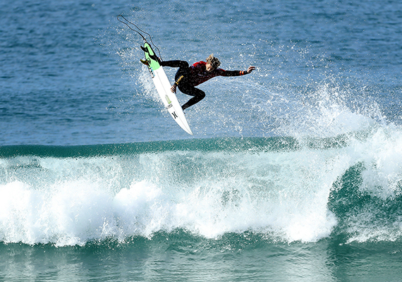 """John John Florence (pictured) winning his round four heat at the JBay Open on Thursday July 7, 2016. PHOTO: © WSL/ Cestari SOCIAL @wsl @kc80 This is a hand-out image from  the Association of Surfing Professionals LLC (""""World Surf League"""") for editorial use only. No commercial rights are granted to the Images in any way. The Images are provided on an """"as is"""" basis and no warranty is provided for use of a particular purpose. Rights to individuals within the Images are not provided. The copyright is owned by World Surf League. Sale or license of the Images is prohibited. ALL RIGHTS RESERVED."""
