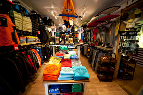 The shop also has you covered with snow and storm gear for those winter months. Photo: Courtesy Flying Point