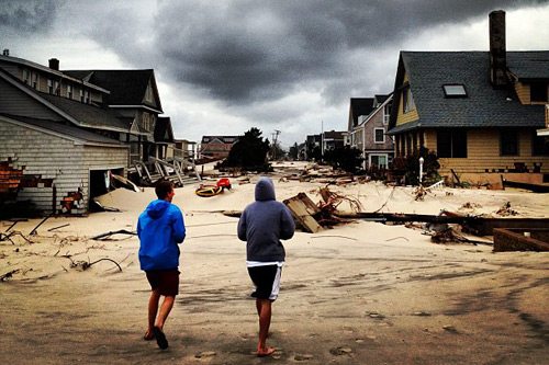 Bay Head and other areas of North Jersey were wracked by massive tidal surge, structural damage, and sand in places lifelong locals had never seen it. The full extent of Garden State damage will come much further into focus over the next few days. Photo: Ryan Mack