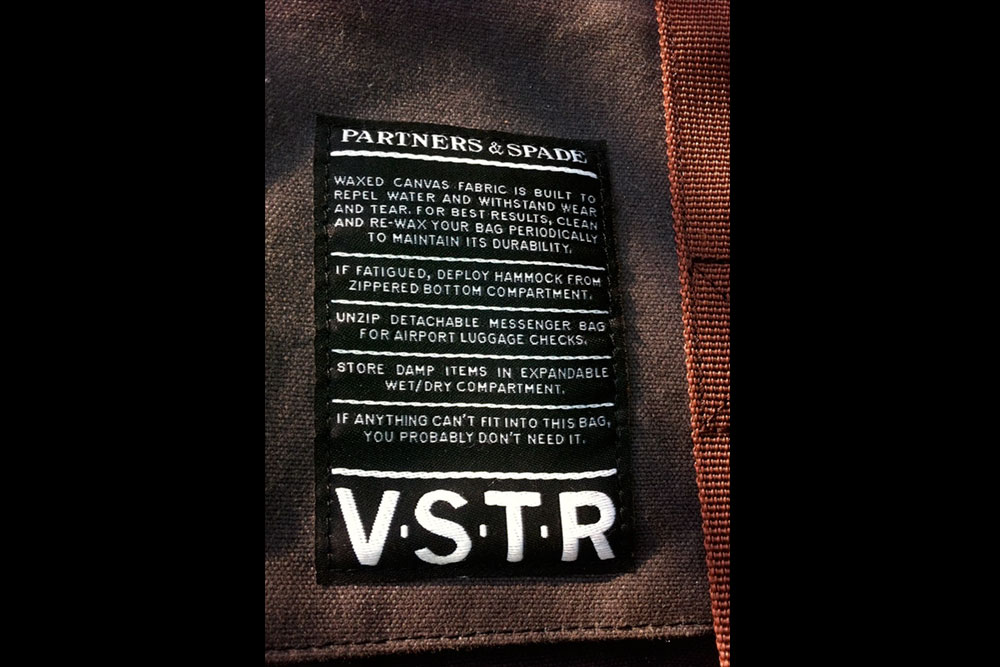 As VSTR's minimalist marketing tagline for the Nomadic Pack suggests, if it doesn't fit, you probably don't need it. Photo: Viele
