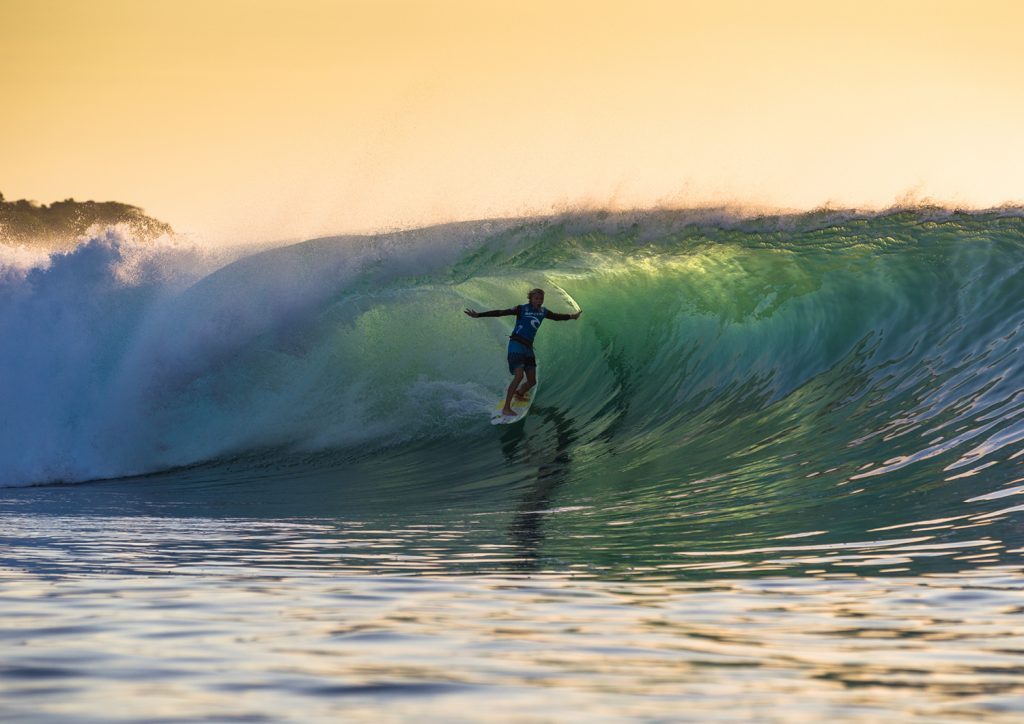 Caption: Rip Curl Team Rider Jacob Willcox will be one too watch when competition gets underway as early as tomorrow at the 2016 Rip Curl Cup Padang Padang: Mick Curley