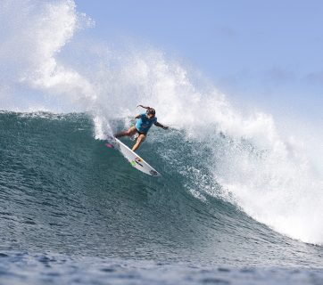 Sally Fitzgibbons (AUS) making her mark on the WSL Championship Tour. Pic WSL/Cestari.