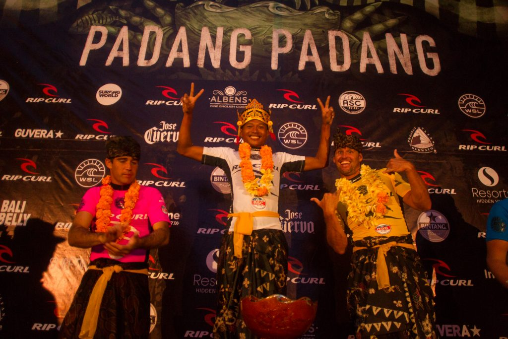 Padang local Mega Semadhi on top of the Rip Curl Cup podium for the second time in three years : Rip Curl Asia