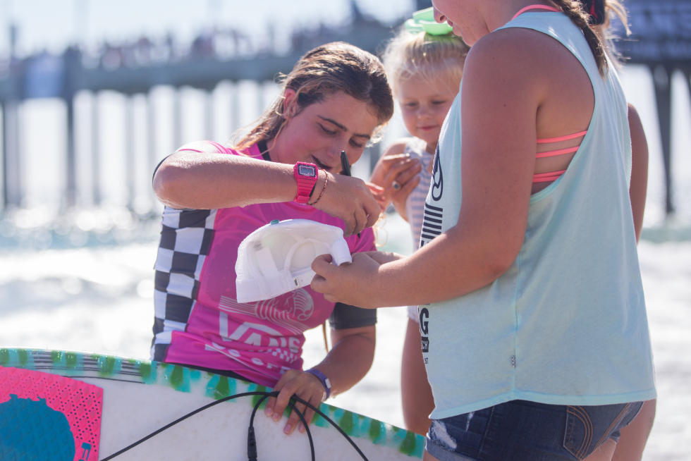 Caroline is quickly becoming one of the most popular female surfers in the country. Photo: WSL/Van Kirk