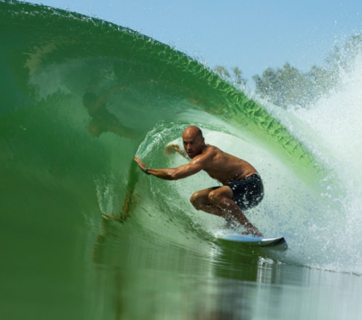 Win a chance to surf Kelly Slater's exclusive wave pool thanks to his partnership with Omaze.