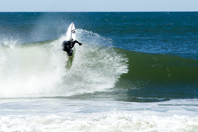 Sam Hammer riding a Firewire Surfboard
