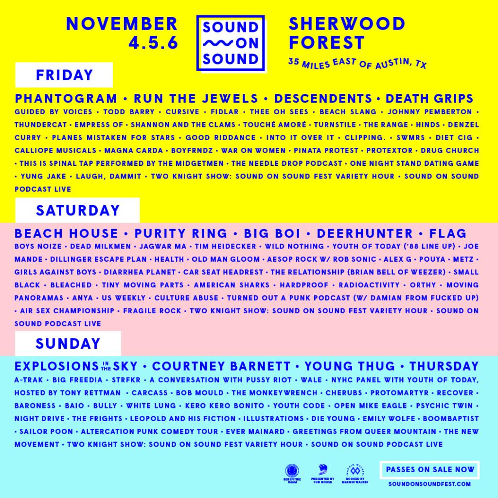 2016 Sound On Sound Fest Lineup