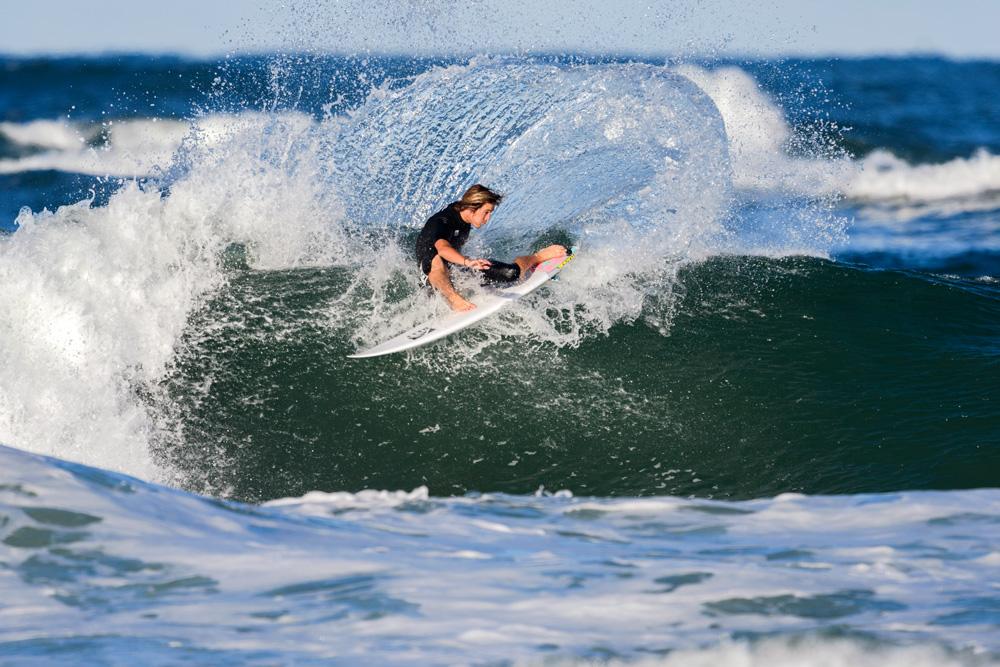 Evan Geiselman, New Smyrna Beach, FL, Hurricane Nicole. Photo: Jason Obenauer