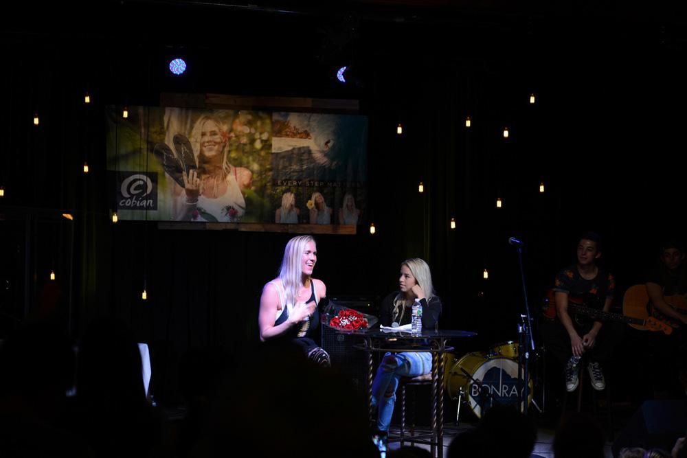 Bethany Hamilton in Ocean City, NJ, on Cobian's Every Step Matters tour. Photo: Jay Rutkowski
