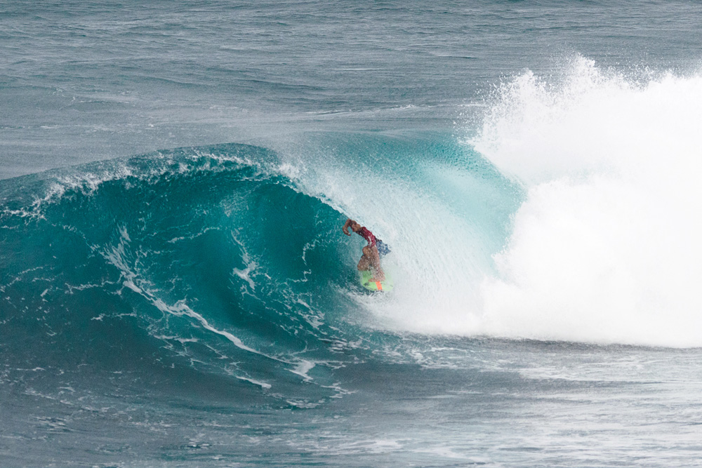 South Carolina's Luke Gordon scored a perfect 10 on this Barbados beauty at the WSL Soup Bowl Pro Junior, where Luke made the semifinals and Bajan native Ché Allan won. Stay tuned for a full report. Photo: Mark Harris