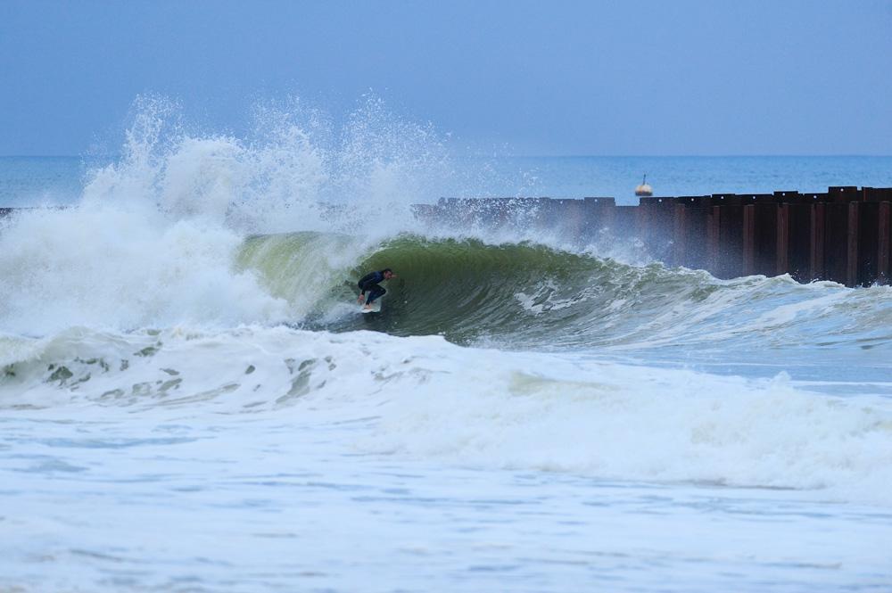 Alex Brooks, New Jersey, Hurricane Nicole. Photo: Bill Brooks