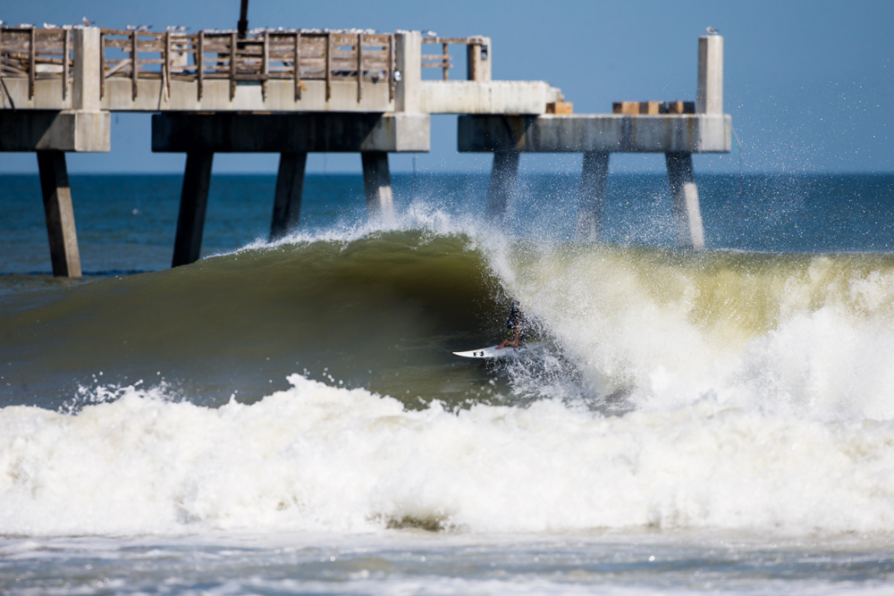 Cody Thompson, North Florida, Hurricane Nicole. Photo: Logan Bowles