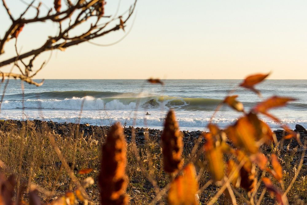 How did surfer/shaper Roger Beal spend his Election Day morning? Appropriately enough, putting in a little R&D in the birthplace of American democracy. Photo: Paul Girello