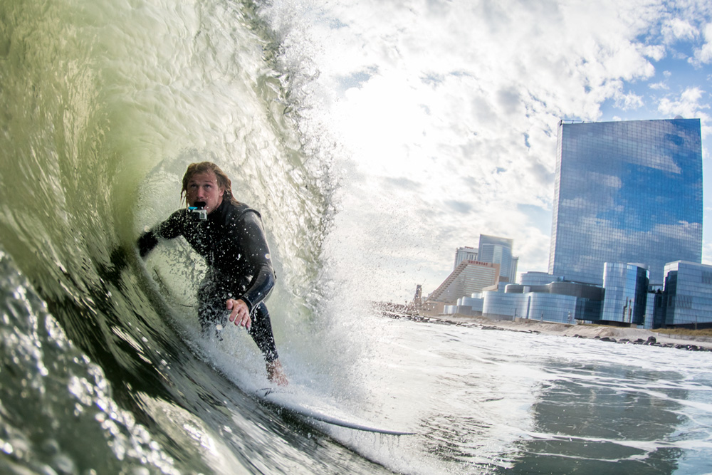 Ben Graeff, New Jersey, Hurricane Nicole. Photo: Matt Ciancaglini
