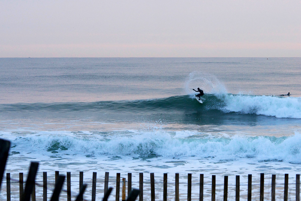 The weather in New England on November 9th remained so dark it was almost like the sun never came up, according to multiple sources in the area. Good on Perry Reynolds for injecting a little flair into the overcast day with this big hack. Photo: Gus Potter