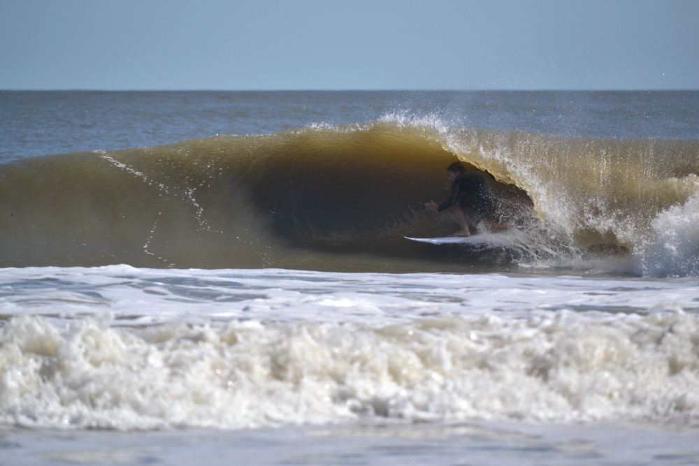 Kyle Busey, South CArolina, Hurricane Nicole. Photo: Derf