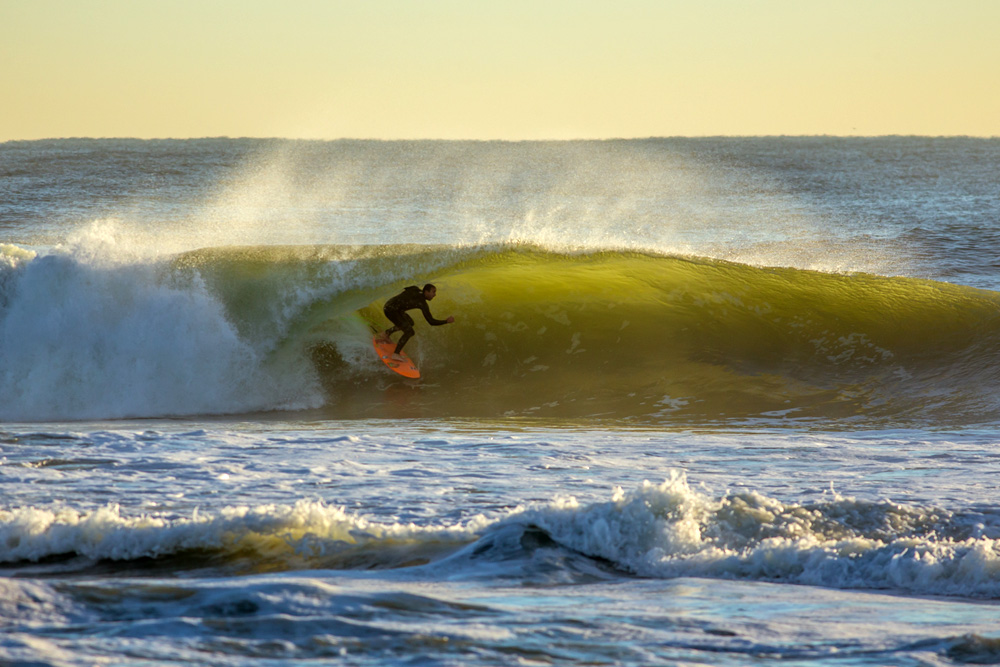 Meanwhile, Andrew Gesler went the opposite direction and lucked out on one of the best South Jersey mornings in recent memory. Photo: Kyle Gronostajski