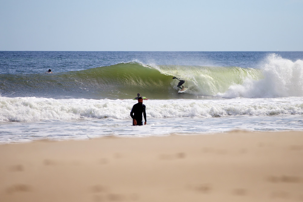 Mike Gleason, New Jersey, Hurricane Nicole. Photo: Carter McCoy