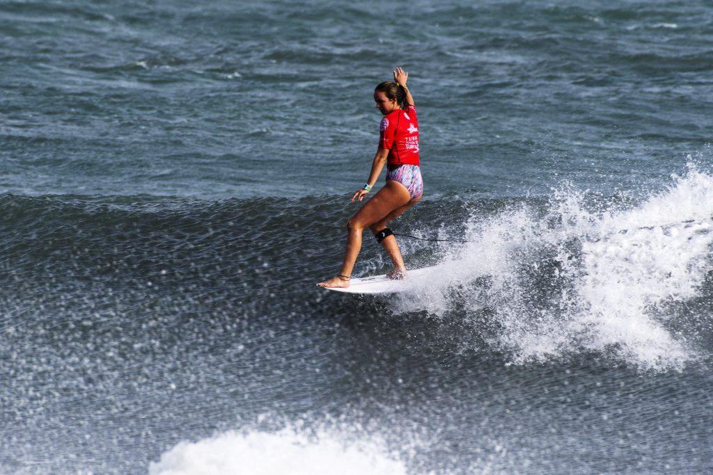 Rachael Tilley at the Taiwan Open of Surfing. Photo: WSL/Bennett