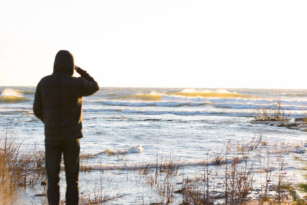 Loukas Betha, Lake Michigan, Great Lakes, surf. Photo: Rick Pollak