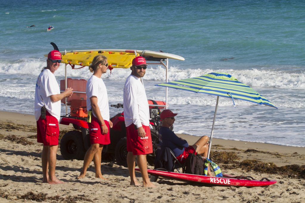 Martin County Lifeguards. Photo: Mark Hill
