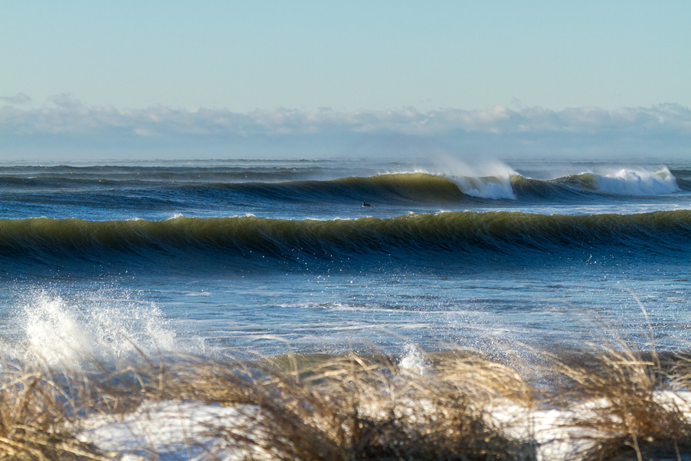 Insanity, as it turns out, depends on your perspective. And from this beach in the Canadian Maritimes, things are looking pretty darn good. Photo: Trevor Nicodemo