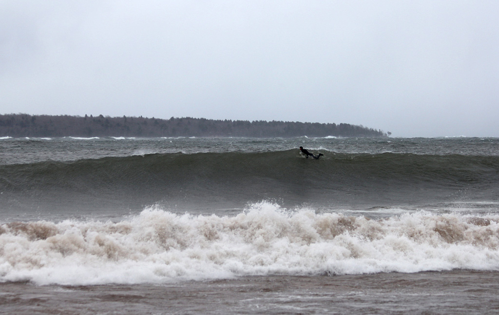 Anywhere on the East Coast, this would be considered a legit overhead wave. Photo: Brian Tanis