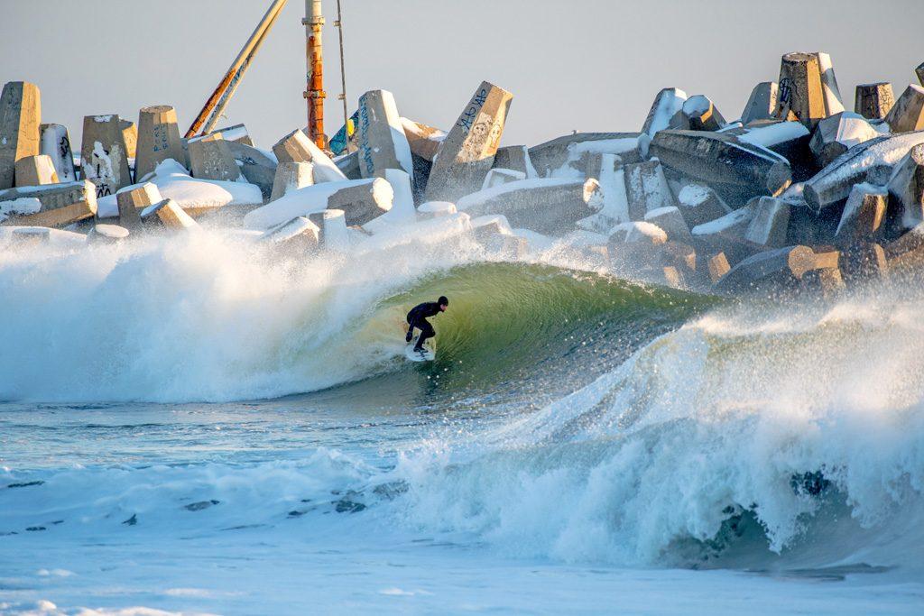 Winter Storm Helena Swell Gallery, Mike Cassella, Jude Clark