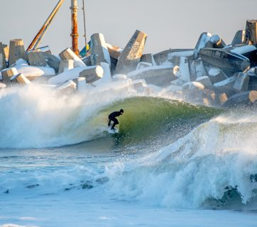 Winter Storm Helena Swell Gallery, Mike Cassella, Jude Clark