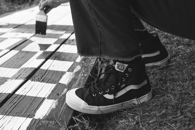 d3af326e37664c The Vans x Wade Goodall Black Ball Hi SF embodies a deconstructed high-top  design with a refined toecap detail